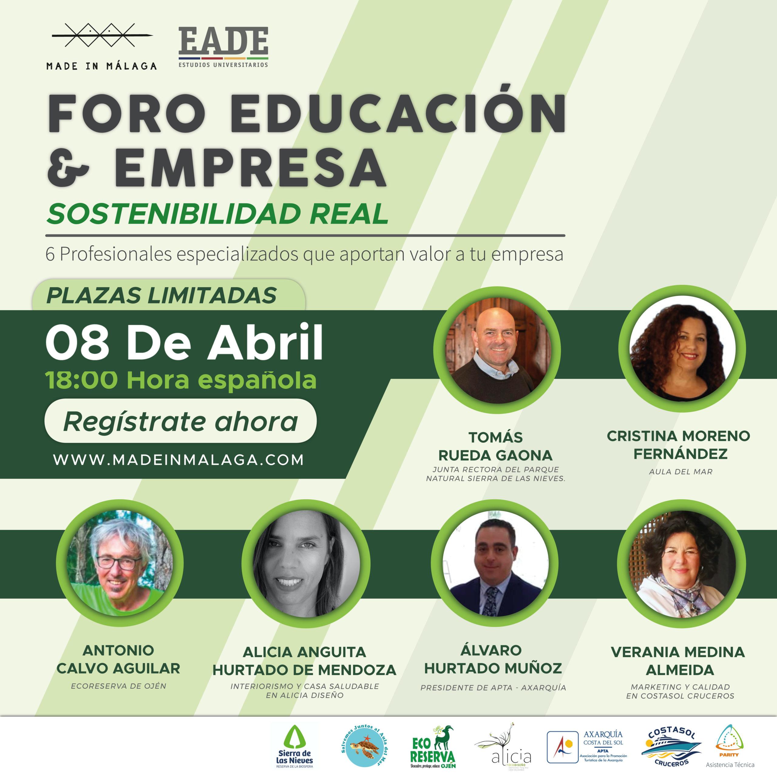 La Sostenibilidad en Málaga Educación y Empresa Made in Málaga
