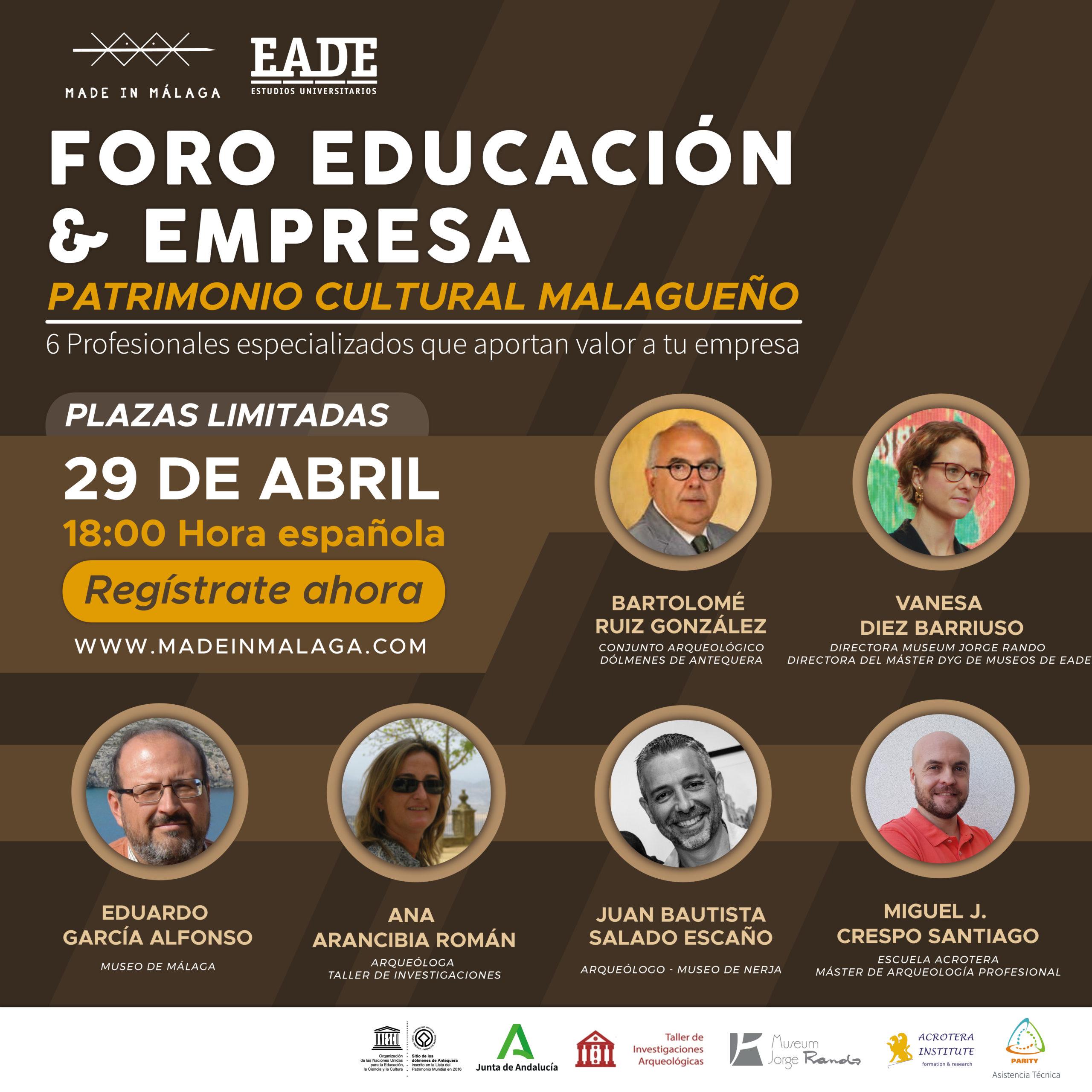 Patrimonio Cultural Malagueño en el Foro Educación Empresa