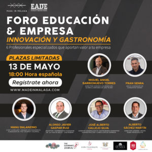 innovación y gastronomía en el foro educación empresa Málaga